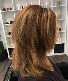 Damen Mittellanger Haarschnitt Coiffeur Asante